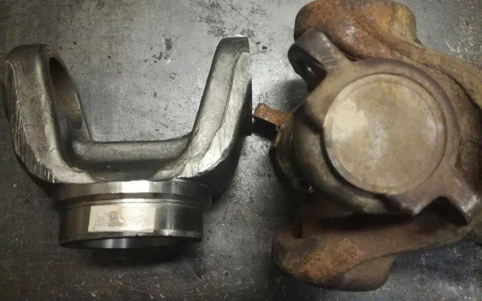 Замена вварных вилок кардана