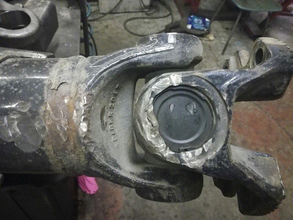 Ремонт карданного вала MAN с заменой фланца