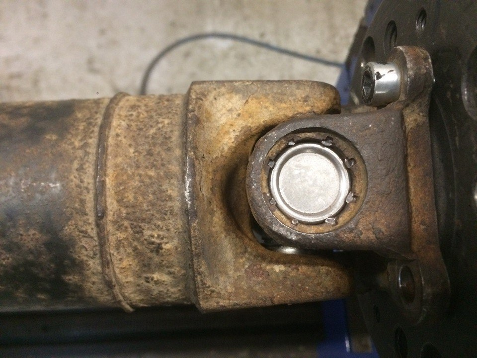 Ремонт карданного вала Nissan X-Trail с крестовиной под кернение